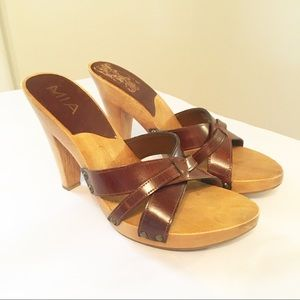 New Mia Wood look Heeled Strappy Sandals